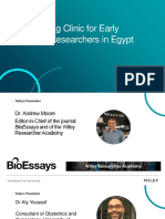 Publishing Clinic for Early Career Researchers in Egypt 325735