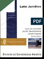Latin Juridico Area VIII-Historia Del Derecho y Derecho Comparado