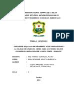 informe sobre impacto ambiental