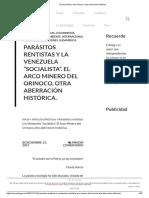 El Arco Minero Del Orinoco, Otra Aberración Histórica