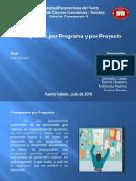 Presupuesto por programa y por proyecto