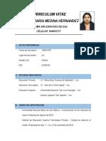 Curriculum Vitae Yesenia Medina