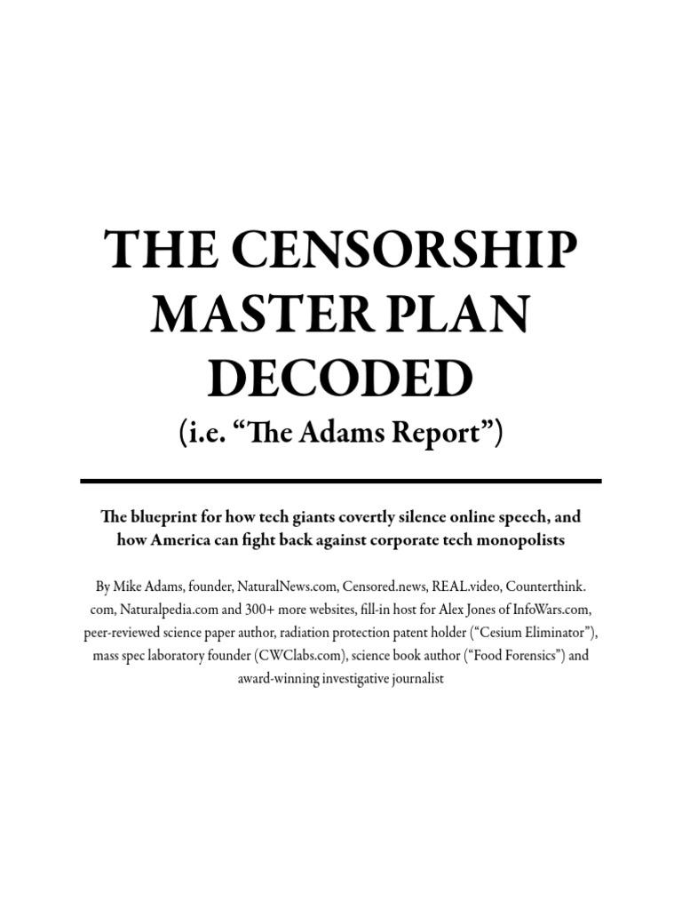 The censorship master plan decoded censorship news malvernweather Choice Image