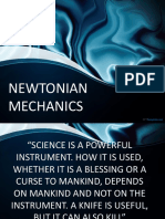 Newtonian Mechanics (Physics Chap 2)