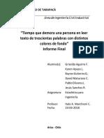 Informe Estadistica Para Ingeniería - Experimento de lectura