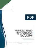 Manual Normas y Procedimientos Direccion de Catastro Valencia