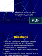 Company analysis lecture securities Analysis.ppt