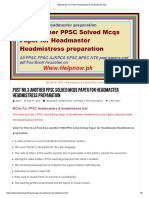 500 MCQs for PPSC Headmasters & Headmistress Test..1
