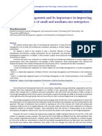 Knowledge management and its importance in improving the performance of small and medium-size enterprises