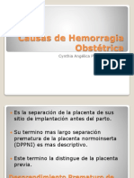 Causas de Hemorragia Obstetrica