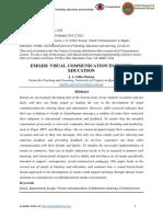 Emojis- Visual Communication in Higher Education