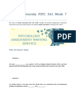 Liberty University PSYC 341 Week 7 Exam