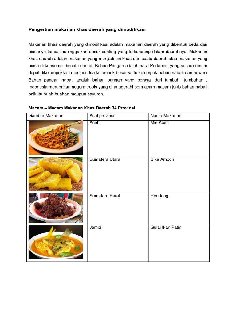 329586122 Makanan Khas Daerah Yang Dimodifikasi Docx Docx