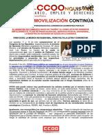 2410813-2018!07!13 Comunicado CCOO Comparecencias Hacienda y Fomento