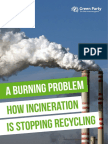 Green party report on incineration and recycling