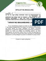 Pahintulot- Araw Ng Magandang Laguna