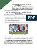 Cara Memenangkan Permainan Di Agen Bola Indonesia Dengan Mudah