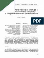 Vender Cara La Victoria Al Enemigo. España El Escenario Europeo y La Independencia de Los EEUU