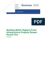 Building Better Regions Fund Infrastructure Projects Stream Program Guidelines