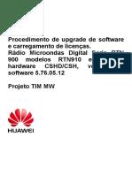 Procedimento Upgrade-RTN950 HUAWEI
