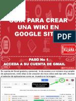 5. Guia Para Crear Una Wiki en Google Sites