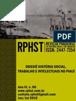 Revista Piauiense de História Social e do Trabalho, ano IV, n. 06