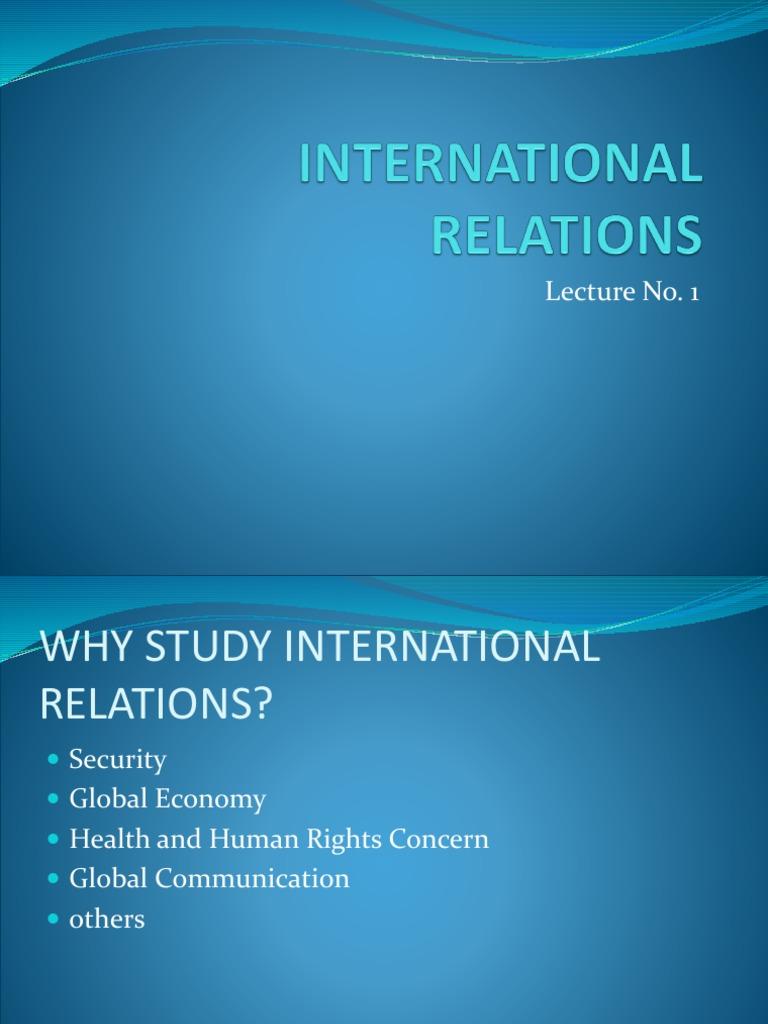 International Relations (1) | International Relations