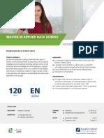 Master in Applied Data Science - Info Sheet 2018