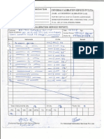 Calibration Service Report