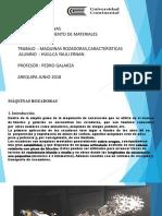 MAQUINAS ROZADORAS, CARACTERISTICAS