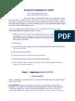 Seven Major Commands of Christ