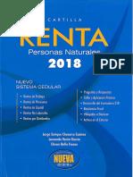 Cartilla Renta Personas Naturales 2018