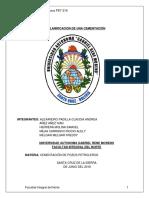 Informe de Planificacion de Una Cementacion