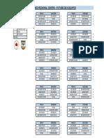 Fixture Torneo Regional Súper 8
