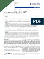 Anemia Aplastic in Pregnancy