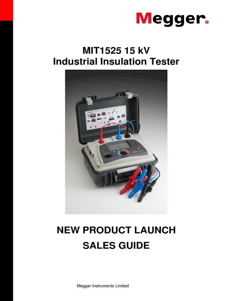 Megger Sales Guide Mit1525 Insulator Electricity Transformer Insulation Tester Constant 5kv