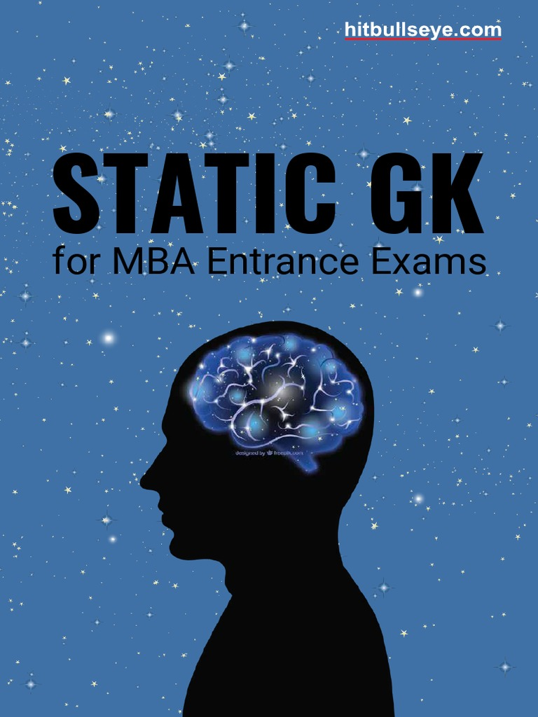 91e7886e8 Static Gk: for MBA Entrance Exams
