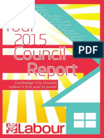 Cambridge Labour 2015 Residents' Report