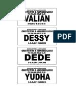 name tag F