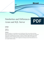 Similarities and Differences (SQL Azure vs. SQL Server)