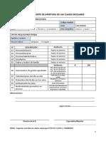 Ficha de Reporte de Apertura de Las Clases Escolares v1