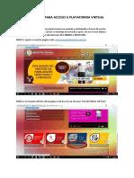 Manual Para Acceso a Plataforma Virtual