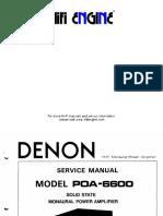 Hfe Denon Poa-6600 Service