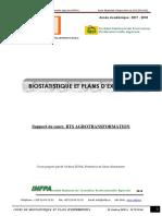 Biostatistique Et Plan d'Experience Era Sud Document Élève