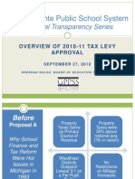 GPPSS Financial Transparency Series_2010-11 Tax Levy