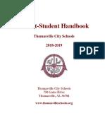 Thomasville City - Parent Student Handbook 2018-2019 (Final) 6-25-18