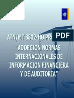 Adopcion de normas de auditoria en Honduras