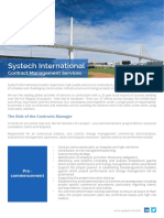 Systech International Contract Management Services Web
