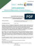 Invima anuncia retiro de medicamentos que contengan Valsartán