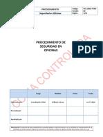 PO-SSMA-P-001 Procedimiento de Seguridad en Oficinas v.00